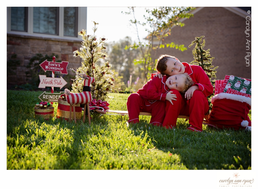 Adorable Brotherly Hug by Charlotte NC Family Photographer