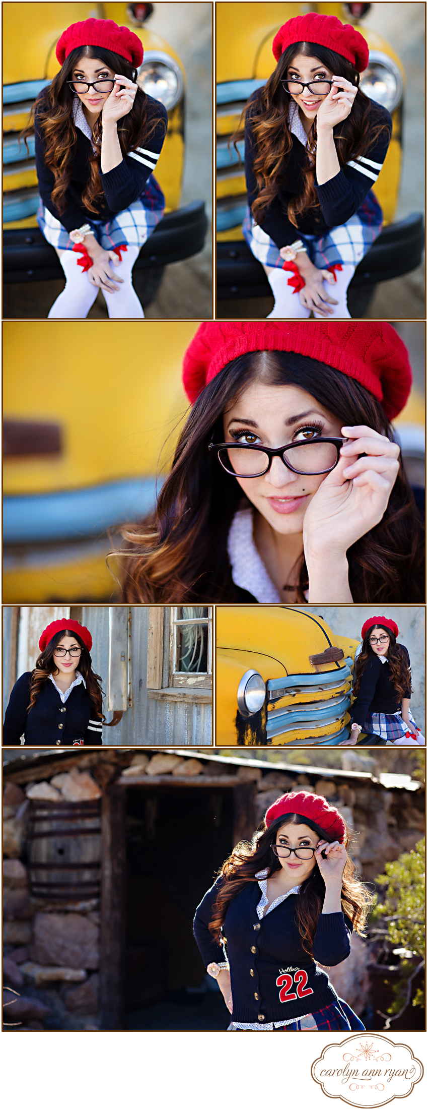 Fanwood NJ Senior Portrait Photographer Carolyn Ann Ryan photographs styled session with a school girl classic look