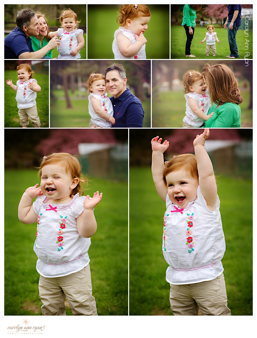 Charlotte NC Family Portraits for first birthday