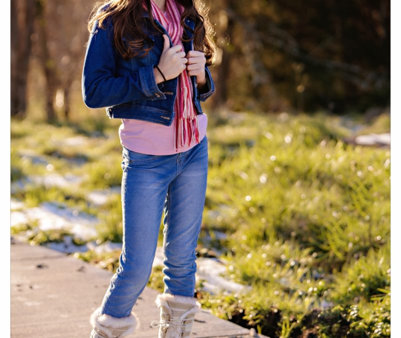 Fashionable Charlotte NC Tween Portraits styled for Winter and Valentine's Day