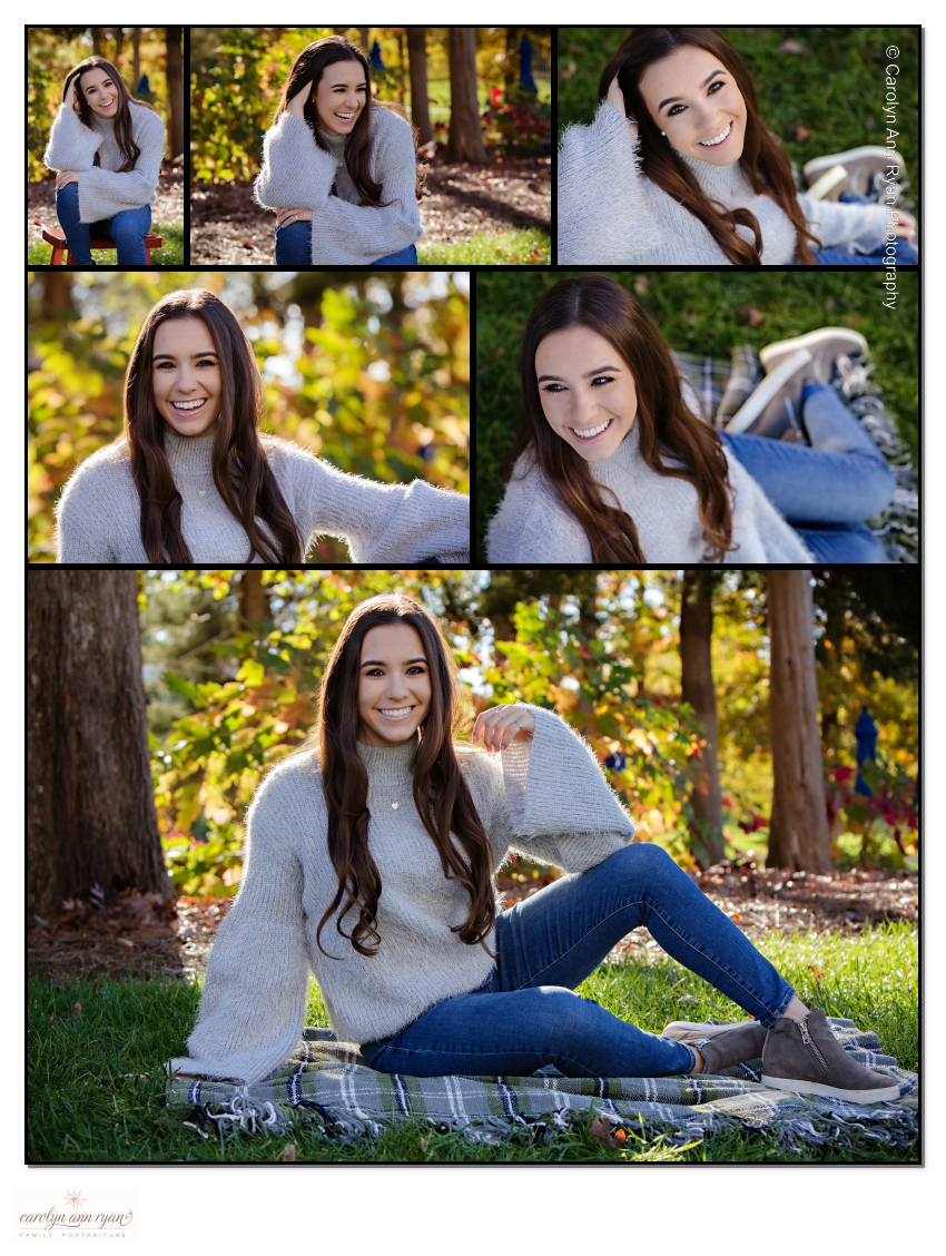 Elegant Autumn Senior Portrait Photography Charlotte