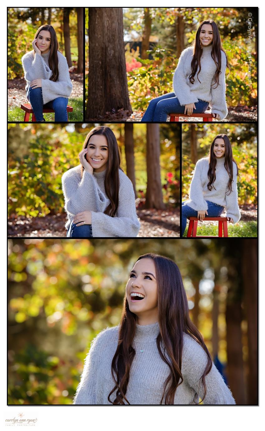 Elegant Autumn Senior Portraits Charlotte