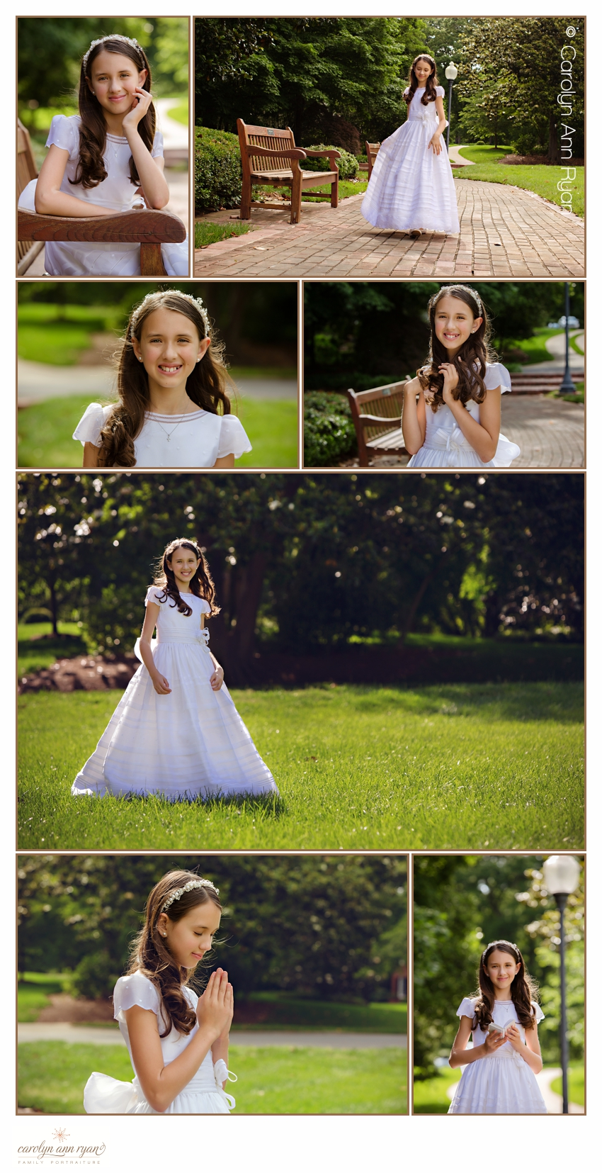 Carolyn Ann Ryan creates enchanting South Charlotte Communion Portraits