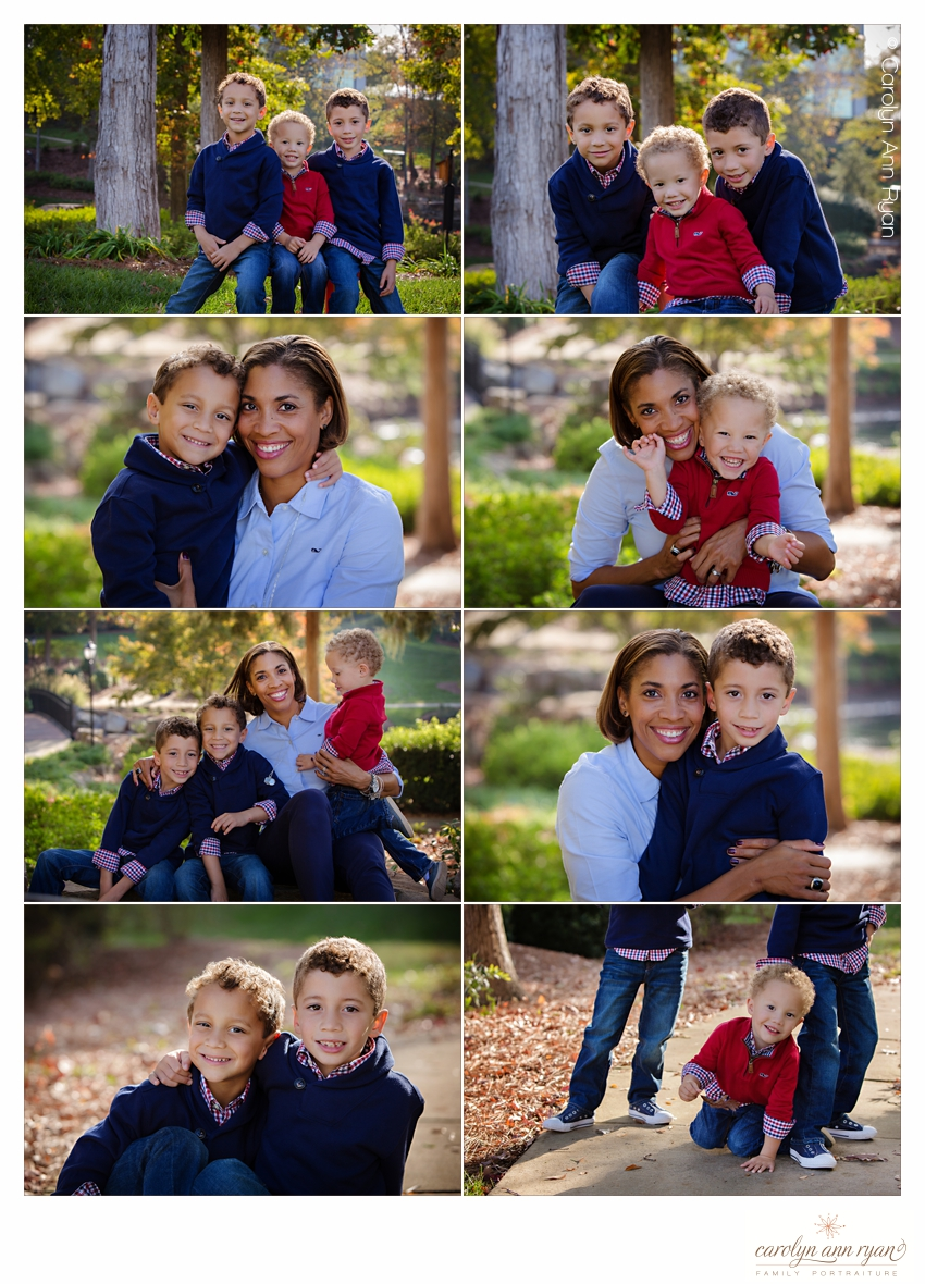 Carolyn Ann Ryan, experienced Charlotte Family Photographer loves photographing boys and their moms