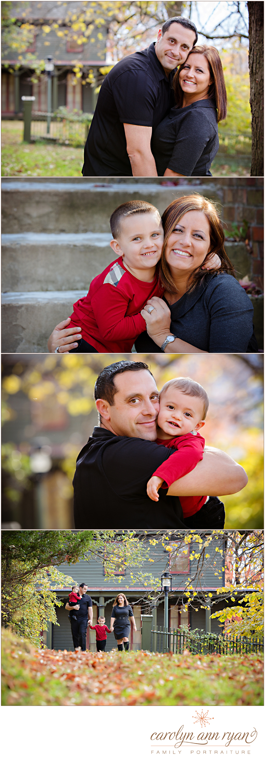 Fall Family Portrait Session by Waxhaw area Family Photogapher Carolyn Ann Ryan