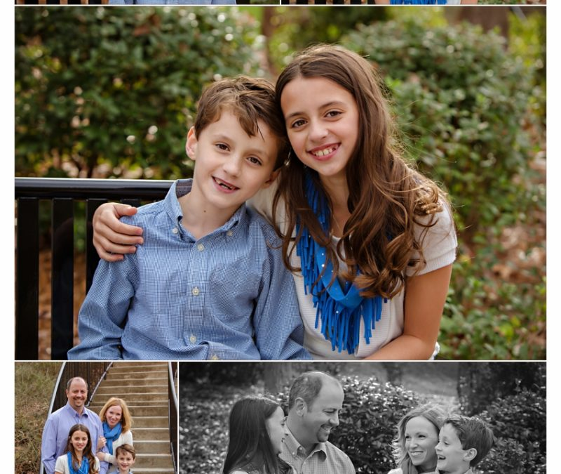 Darling Charlotte NC Family Photographer, Carolyn Ann Ryan, photographs family in Fall Portrait Session