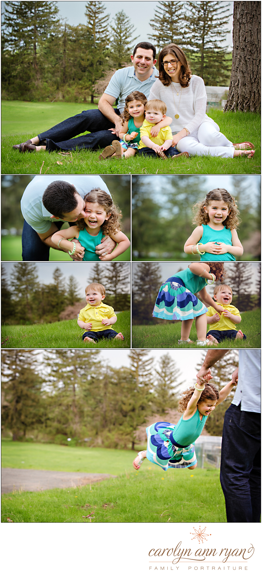 Carolyn Ann Ryan Photography photographs family playing outside in Northern NJ