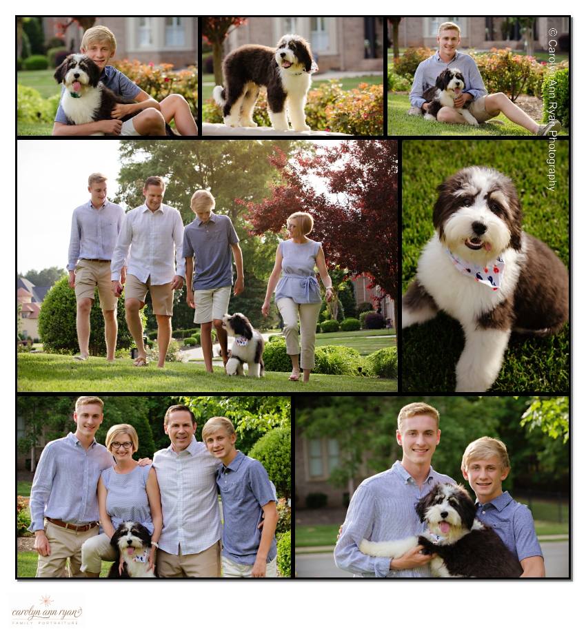 Memorable Charlotte Family Portraits photographed by Carolyn Ann Ryan Photography in May.