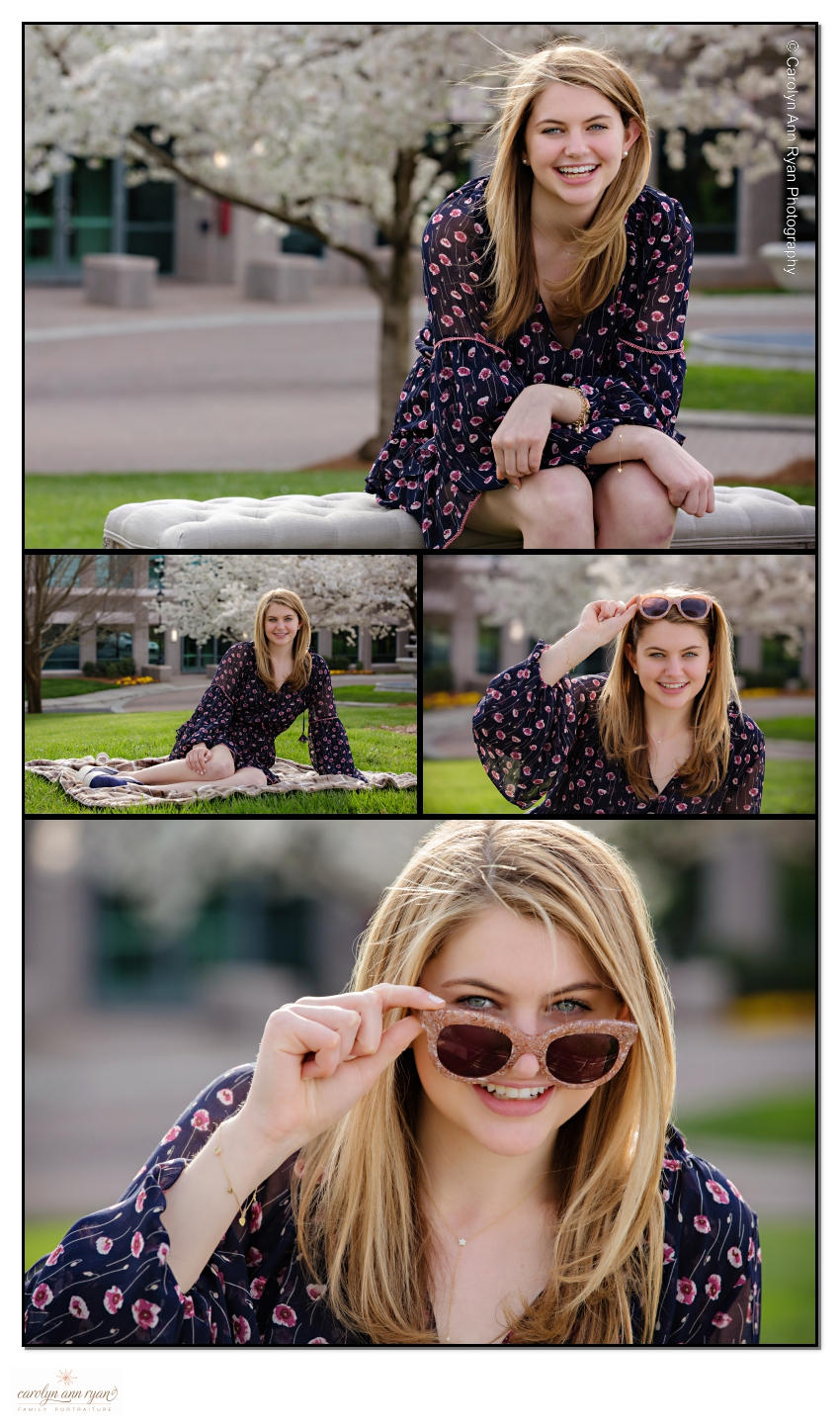 Charlotte Spring Outdoor Senior Portrait Photography