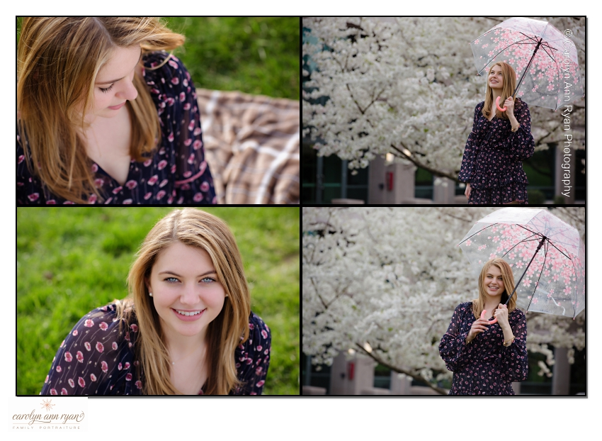 Outdoor Senior Portrait Session in Charlotte during Spring