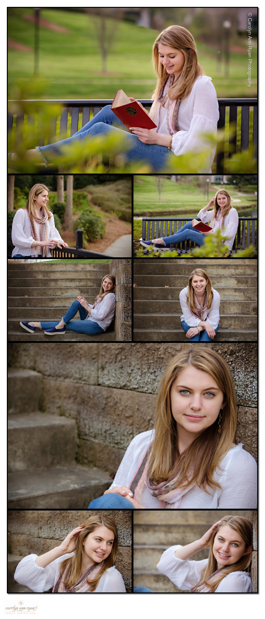 Charlotte Senior Portrait Photographer Outdoor Park Session
