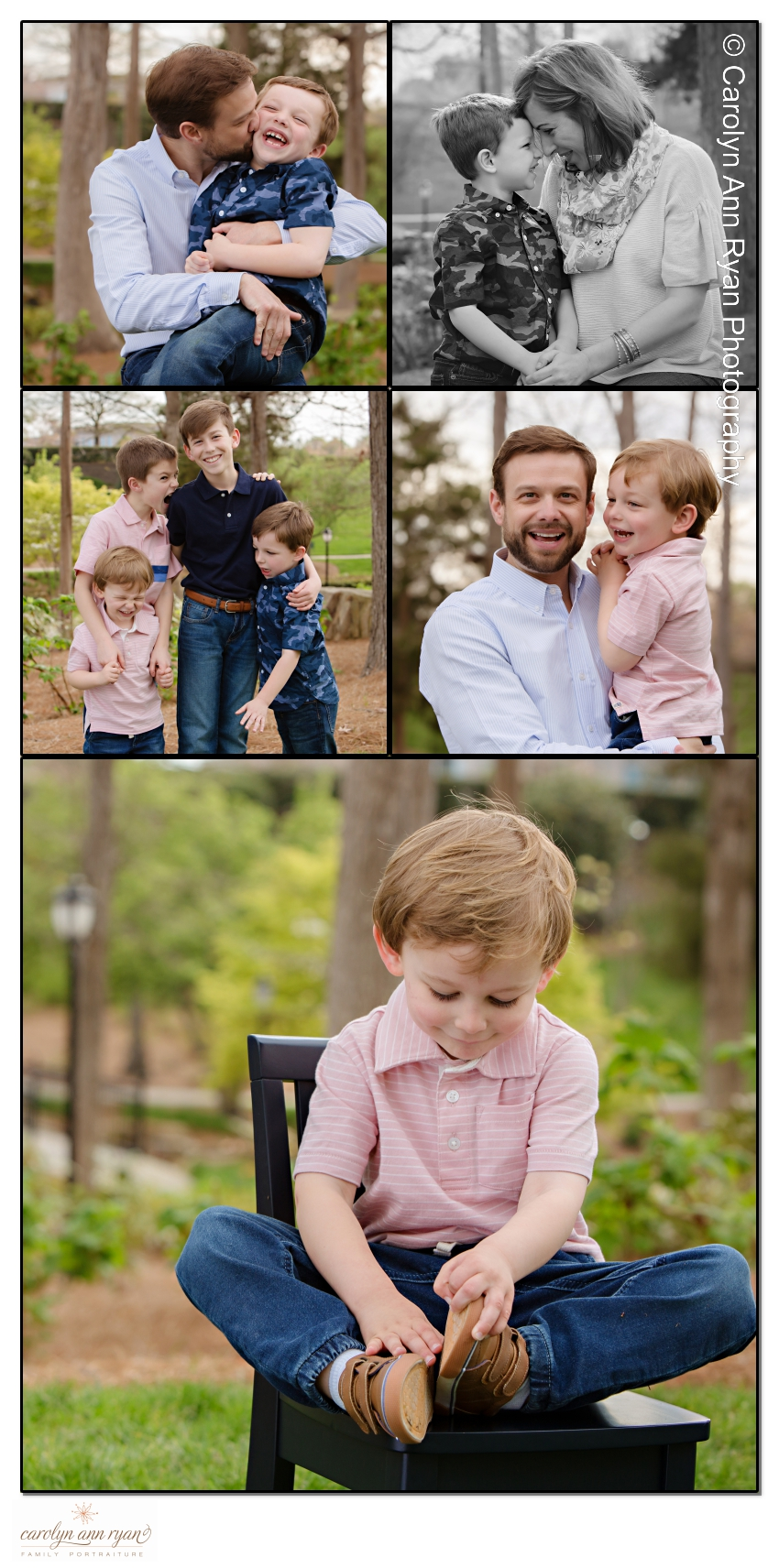 Sweet Family Photography in Charlotte NC by experienced photographer, Carolyn Ann Ryan