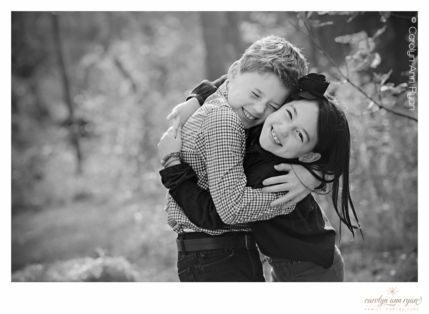 Sweetest Hug Photo in Heartwarming Charlotte Family Photography