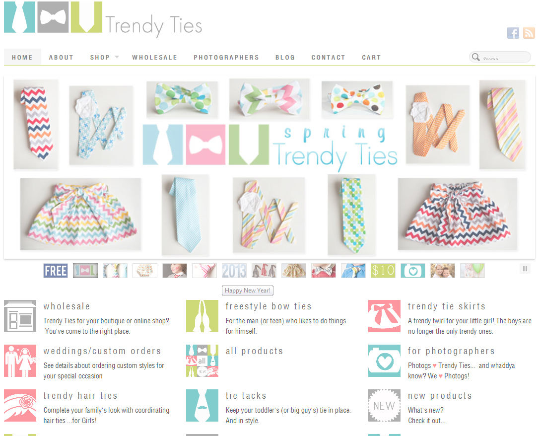 North Carolina Child and Family Photographer shares trendy ties web site