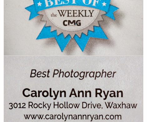 Carolyn Ann Ryan was voted Best Photographer in South Charlotte Weekly Best of Awards
