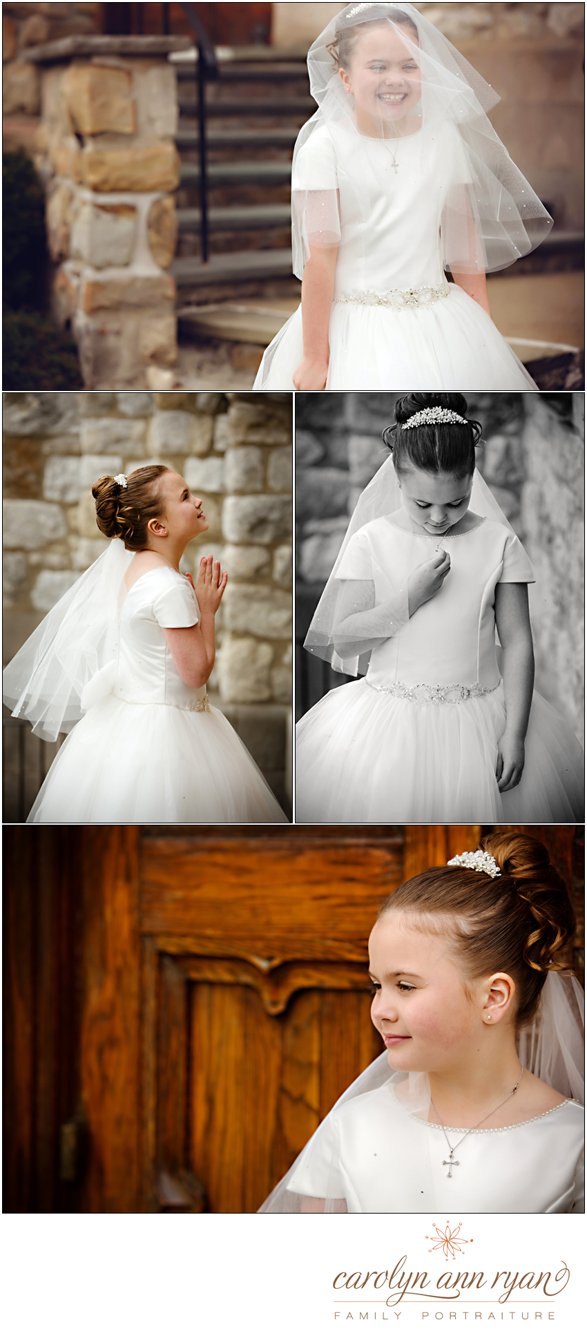 first communion special moments captured by Carolyn Ann Ryan Photography