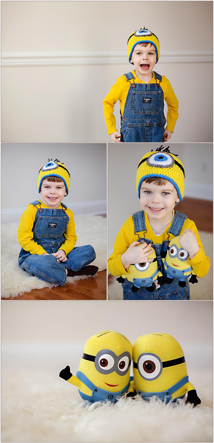 Carolyn Ann Ryan photographs 5 year old boy in the Westfield NJ studio
