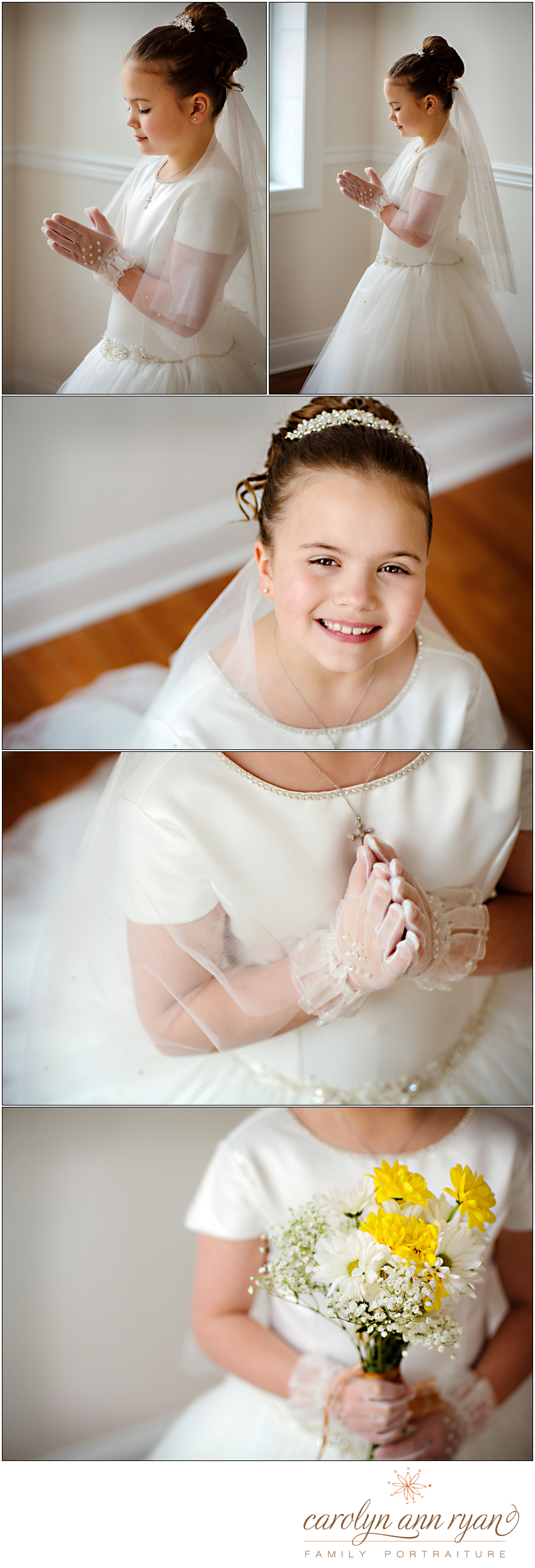 Communion Photographs captured by Carolyn Ann Ryan Photography